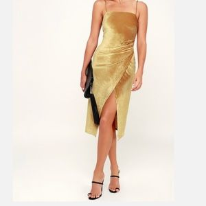 Gold Suede cocktail dress